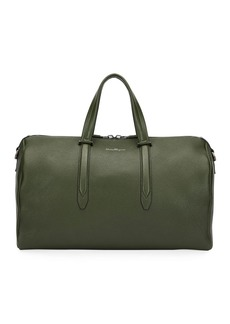 Ferragamo Men's Firenze Leather Weekender Duffel Bag