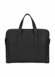 Ferragamo Men's Firenze Studded Leather Briefcase