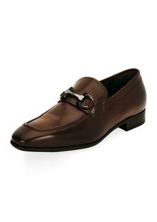 Ferragamo Men's Gancini-Bit Leather Loafer