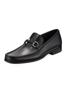 Ferragamo Men's Gancini-Bit Leather Moccasin Loafer