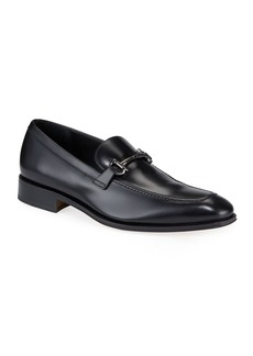 Ferragamo Men's Gancini-Bit Loafer Black