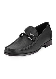 Ferragamo Men's Grained Calf Leather Bit Loafer