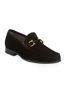 Ferragamo Men's Grandioso Suede Loafer