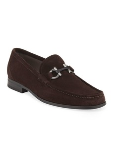 Ferragamo Men's Grandioso Suede Loafers