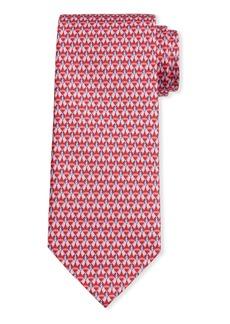 Ferragamo Men's Image 5 Silk Tie w/ Shirt & Tie Motif