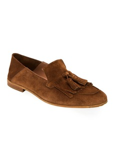Ferragamo Men's Leather Loafers with Tassels