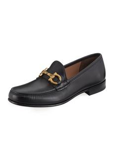 Ferragamo Men's Leather Vintage Gancini Loafer