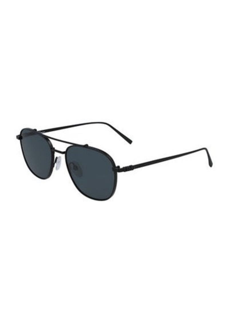 Ferragamo Men's Metal Aviator Double-Bridge Sunglasses