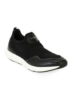Ferragamo Men's Neoprene & Leather Trainer Sneakers