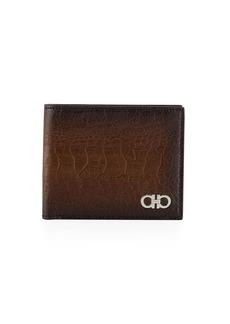 Ferragamo Men's Ostrich Bi-Fold Wallet