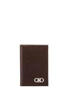 Ferragamo Men's Revival Bi-Fold Lizard-Embossed Leather Card Case