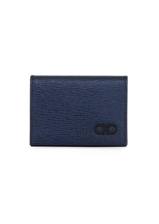 Ferragamo Men's Revival Gancini Business Card Case