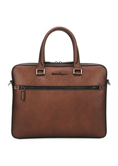 Ferragamo Men's Revival Textured Leather Briefcase