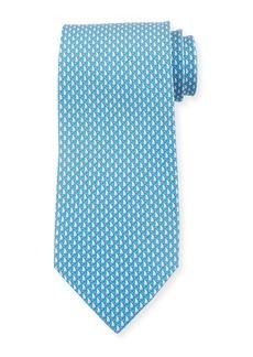 Ferragamo Men's Sailboat Silk Tie