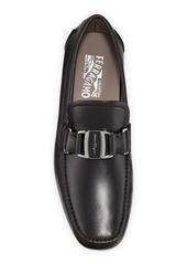 Ferragamo Men's Sardegna Leather Buckle Drivers