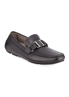 Ferragamo Men's Sardegna Leather Buckle Drivers