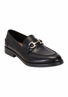 Ferragamo Men's Scarlet Gancini-Bit Leather Loafers