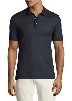 Ferragamo Men's Silk Polo Shirt