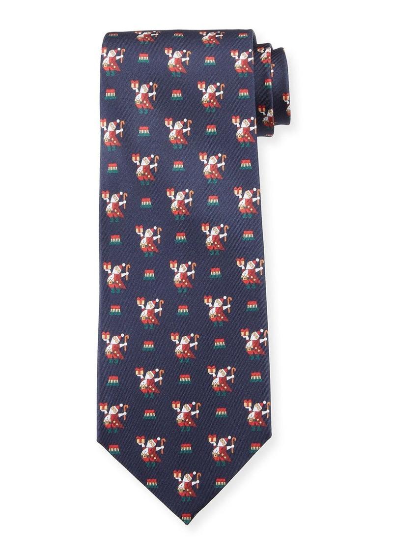 Ferragamo Men's Silk Santa Tie