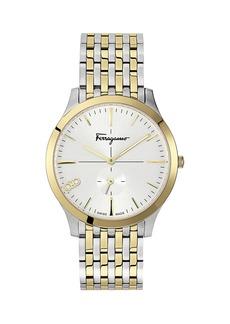 Ferragamo Men's Slim Gent Two-Tone Bracelet Watch