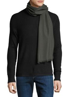 Ferragamo Men's Solid Wool Fringed Scarf