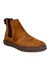 Ferragamo Men's Talos Suede Chelsea Boots