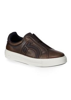 Ferragamo Men's Tasko Slip-On Leather Sneakers