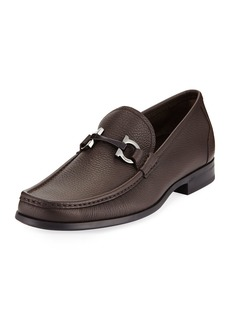 Ferragamo Men's Textured Calfskin Gancini Loafer