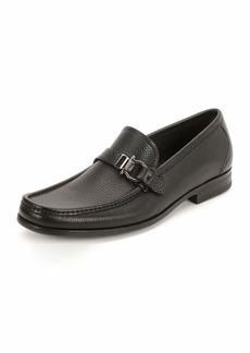 Ferragamo Men's Textured Calfskin Side Gancio Loafer