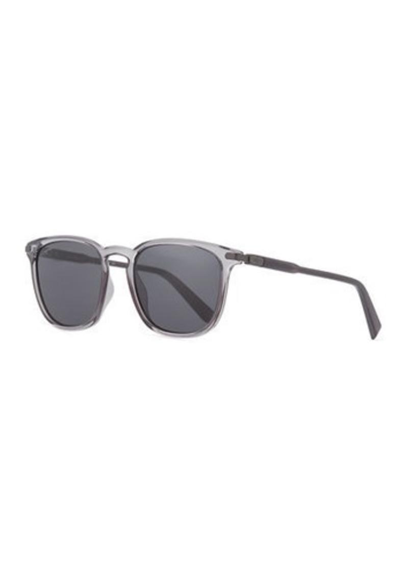 Ferragamo Men's Thin Square Plastic Sunglasses