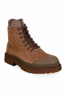 Ferragamo Men's Tolk 2 Leather/Fabric Hiking Boots