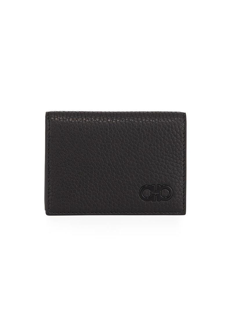 Ferragamo Men's Tonal-Gancini Leather Bi-Fold Wallet
