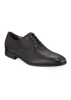 Ferragamo Men's Toulouse Pebbled Leather Oxford Dress Shoe