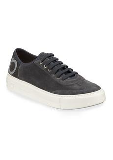 Ferragamo Men's Truman Suede Low-Top Sneakers