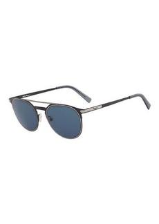 Ferragamo Men's Two-Tone Metal Sunglasses with Double Bridge