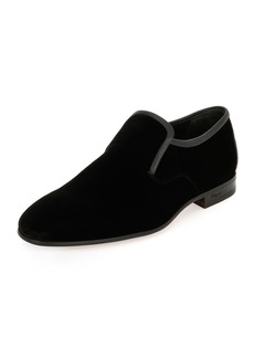 Ferragamo Men's Velvet & Stingray Formal Loafer
