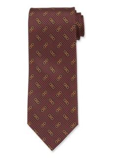 Ferragamo Men's Vintage Gancini Silk Tie  Red