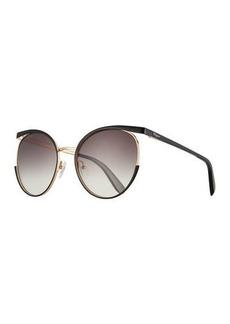 Ferragamo Metal Cat-Eye Sunglasses