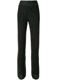 Ferragamo metallic detailed flared trousers