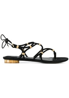 Ferragamo metallic strap sandals