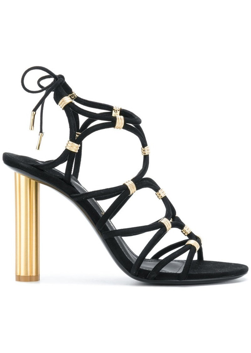 Ferragamo metallic strappy sandals