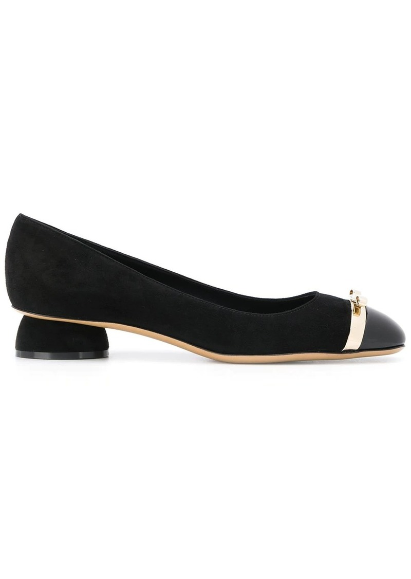 Ferragamo mini bow kitten heel pumps