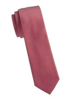 Ferragamo Mini Gancini Jacquard Silk Tie