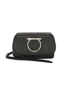 Ferragamo Mini Vela Leather Convertible Clutch