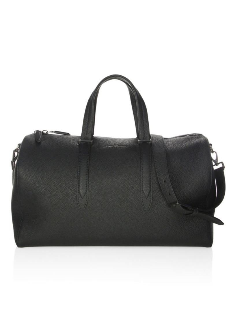 2eebcf4979 Ferragamo Muflone Leather Weekender Bag
