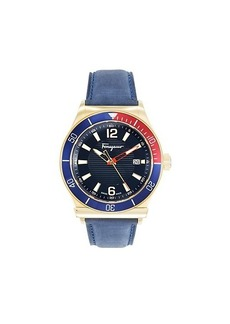 Ferragamo Multicolored Stainless Steel & Leather-Strap Watch