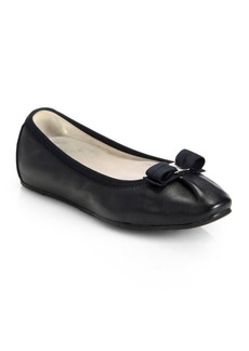 Ferragamo My Joy Leather Ballet Flats