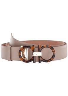 Ferragamo New Gancini Tortoise Adjustable Belt
