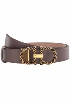 Ferragamo New Gancini Twisted Adjustable Belt