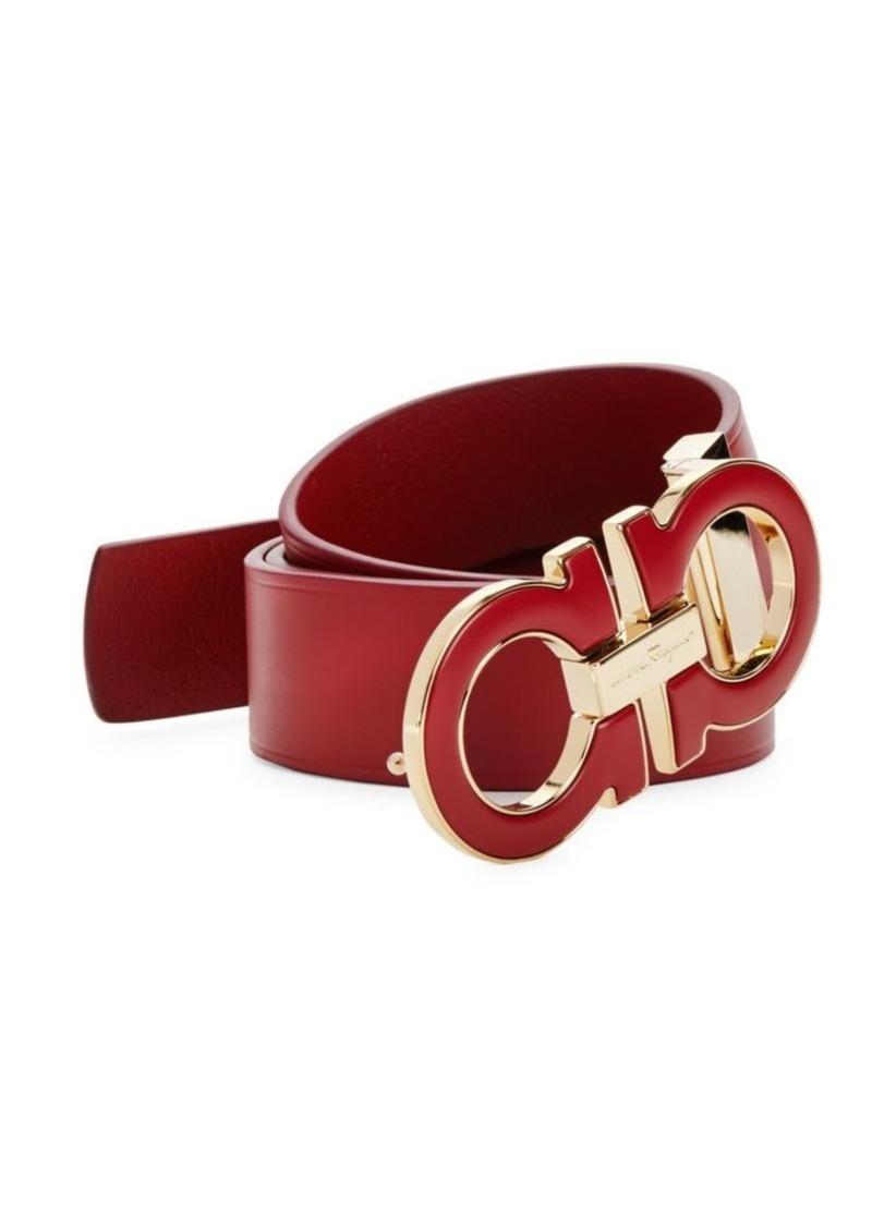 Ferragamo Adjustable Oversized Gancini Buckle Belt